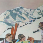 """Schneesonnenlicht"" 120 x 180 cm Akryl a. LW 2011"