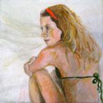 """2007 """"summer dreaming8"""" 15x15 cm Akryl auf Leinwand"""