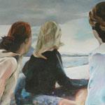 """""""hin und weg 1"""" 120 x 180 cm Akryl.a.LW 2011"""