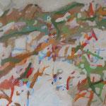 """i like"" 120 x 160 cm Akryl a. LW 2011"