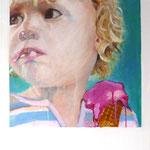 """Eiszeit"" 60 x 50 cm Akryl a. Lw 2012"