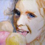 """2007 """"summer dreaming4"""" 15x15 cm Akryl auf Leinwand"""