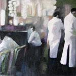 """2007 """"cafe"""" 60 x 80 cm Öl auf Leinwand"""