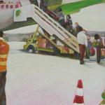 """""""hin und weg 4"""" 60 x 60 cm Akryl a. LW 2011"""
