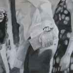 """""""Judith`s Hochzeit"""" 50 x 100 cm Öl auf Leinwand 2010"""
