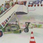 """""""hin und weg 5"""" 60 x 60 cm Akryl a. LW 2011"""