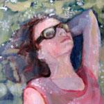 """2007 """"summer dreaming2"""" 15x15 cm Akryl auf Leinwand"""