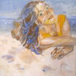 """2007 """"summer dreaming5"""" 15x15 cm Akryl auf Leinwand"""