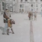 """Unterwegs 2"" 100 x 100 cm Akryl auf Leinwand 2010"