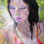 """2007 """"summer dreaming9"""" 15x15cm Akryl auf Leinwand"""