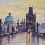 Charles Bridge /Prague  36x48 Available