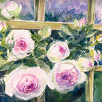 Eden Rose watercolors 24x32 Available