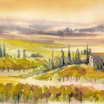 Tuscany landscape I 15 x 24