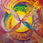 Kryon / Öl auf Leinwand / 100 x 100 cm