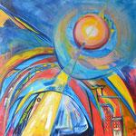 Aufbruch / Öl auf Leinwand /100 x 100 cm