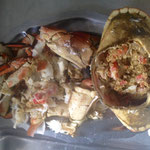 brown crab with white wine