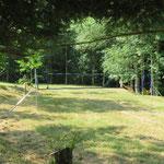 Hier kun je volleyballen of badmintonnen.