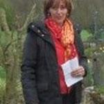 die Gastgeberin Solveig Stubenrauch begrüßt die Landfrauen.. (Foto:DM)