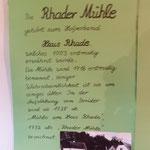 Informationen zur Rhadermühle (Foto: D.Mathes)