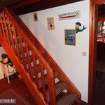 """Die """"Himmelsleiter"""": Treppe zum Obergeschoss."""