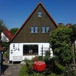Das Ferienhaus (80 m², für 2 Personen), Rückfront des Hauses zur Schlei.
