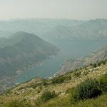 Prachtig uitzicht over de baai van Kotor.