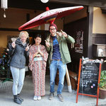 With the nice lady from our Ryokan. © Laura Tiemann