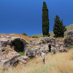 Searching the ancient tombs around Glyfada lake for...