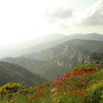 Fantastisch uitzicht over het Samiotische landschap.
