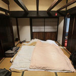 Our Futon matrasses on the Tatami mats. © Laura Tiemann