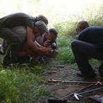 Bert and me in amplexus while photographing the first viper. © Daniel Bohle
