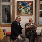 Guido Giovannini und Gennaro Nacci unterhalten sich über Kunst