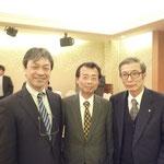 講師をされた中西敬氏,右城会長,昨年12月に講師をしていただいた望月雄二氏