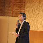 「東日本大震災における国土交通省の取り組みについて」と題して説明される四国地方整備局中村河川国道事務所の岡村環所長