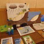 会場に展示された藤井社長作成の模型