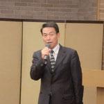 (株)ダイクレの濱田氏による「グレーチングメーカーによるのり面製品の開発」の講演