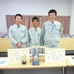 準優勝の高知工業高校2年生の池孝紀、奥田新之介、門田修平君のチーム