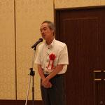 高知工科大学の甲斐芳郎教授による「来賓挨拶」