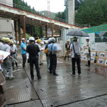 豊岡河川国道事務所 田尻建設専門官による工事説明