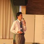 南三陸町の被災状況を説明する矢田康久会員