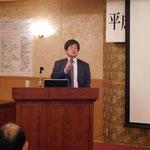 矢田部教授((株)第一コンサルタンツ相談役)による会員入会の挨拶