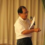 名取市と仙台市の被災状況を説明する濱田博人会員