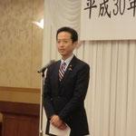 参議院議員の高野先生による挨拶