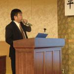 ショーボンド建設(株)原田主査による「最近の予防保全技術工法材料について」の講演