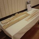 会場に展示された橋梁模型
