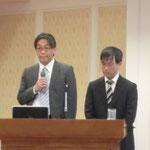 ジェコス(株)の鳥取氏と大野氏による講演