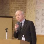 日特建設(株)の松原氏による「100%無機の高性能材料によるコンクリート構造物の延命化技術」の講演