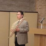 高知工業高校の山岡先生による「橋梁模型COBRAの製作秘話」の講演