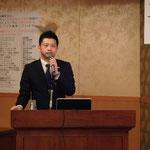 高知県商工労働部産業創造課の揚田氏による「高知県IoT推進ラボ研究会の取り組み」の講演