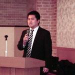 高知高専准教授の近藤先生による「橋梁点検におけるデータ整理の重要性」の講演